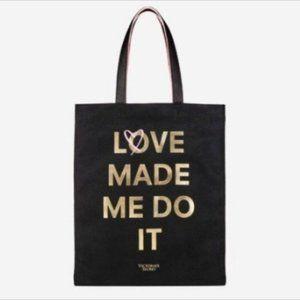 Victoria's Secret LOVE MADE ME DO IT Tote Bag